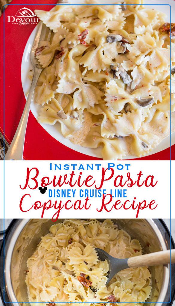 Bowtie Pasta_Disney Copycat Recipe