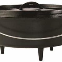 Lodge Cast Iron Camp Dutch Oven, 8-Quart