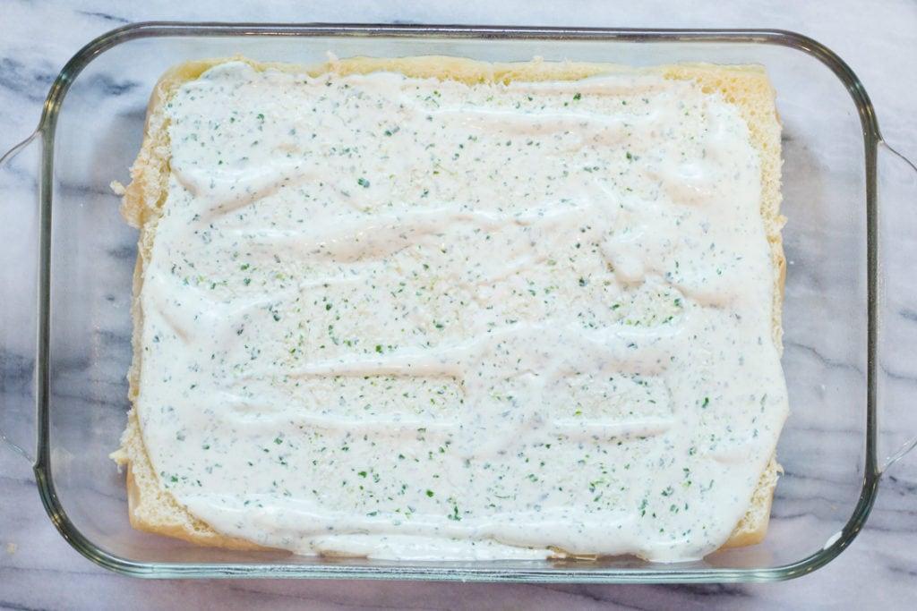 Chicken Fajita Sliders, Cilantro Lime Spread on Rolls