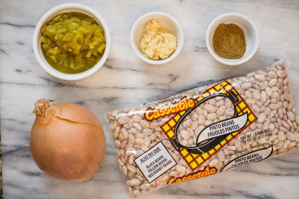 Homemade Refried Beans Ingredients