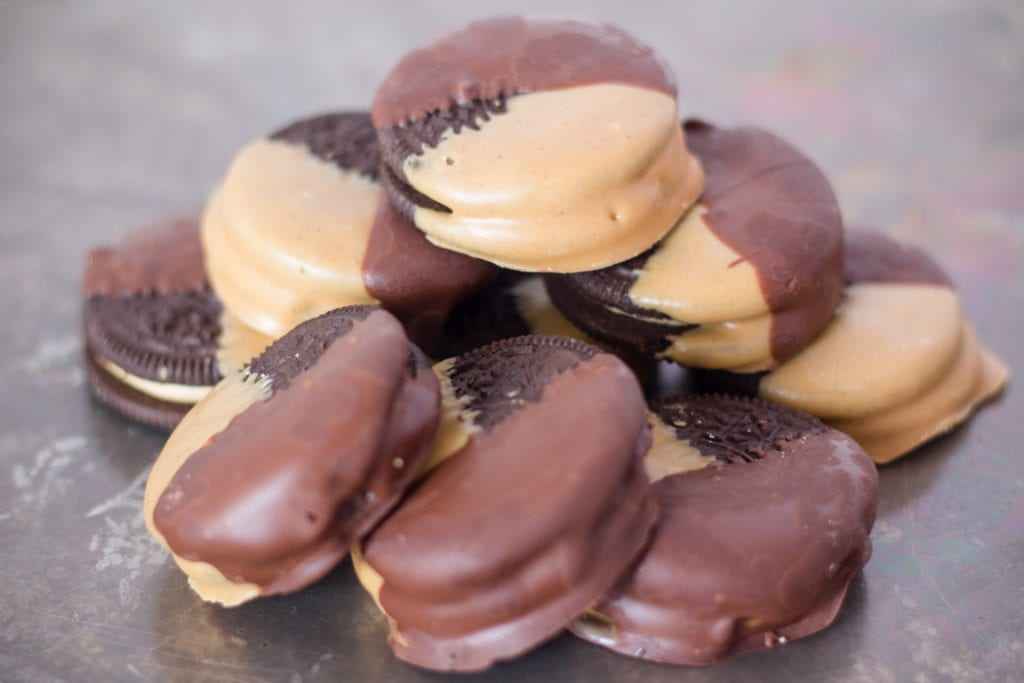 Peanut Butter Dipped Oreos