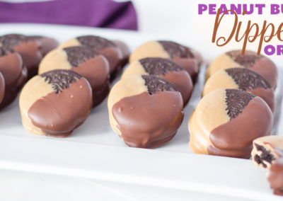 Peanut Butter Double Dipped Oreos