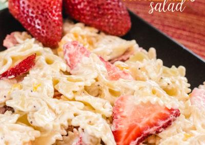 Delicious Strawberry Poppyseed Pasta Salad
