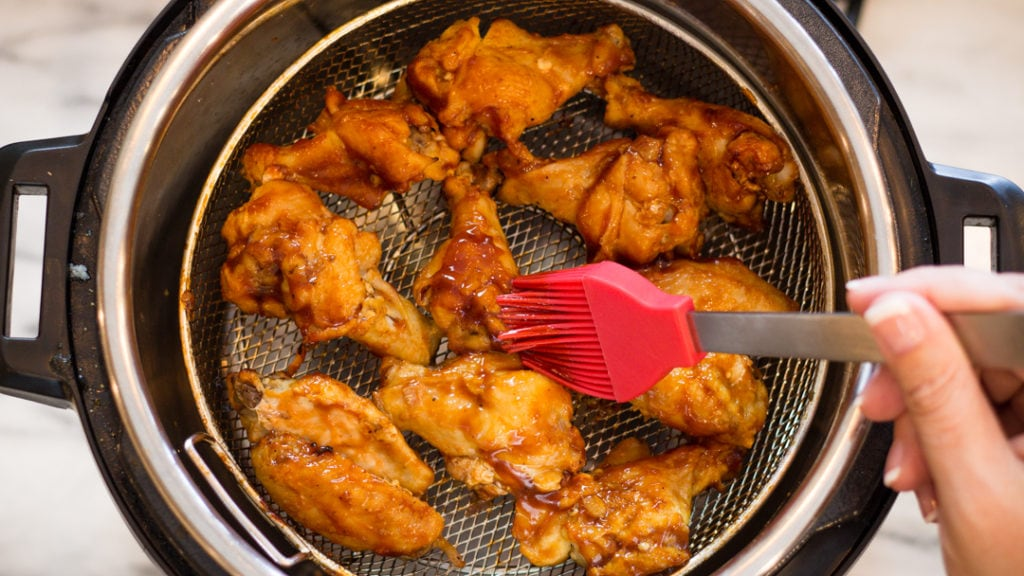 Basting BBQ Chicken Wings