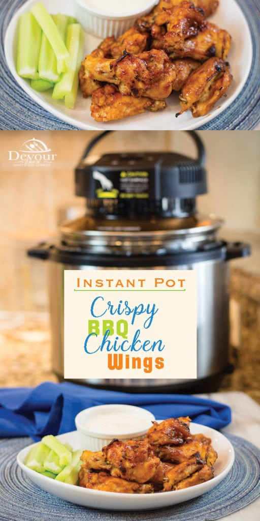 BBQ Chicken Wings made in Instant Pot