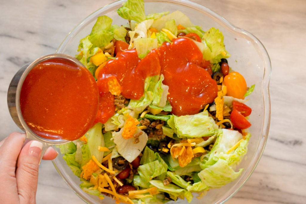 Catalina Dressing On Dorito Taco Salad Recipe