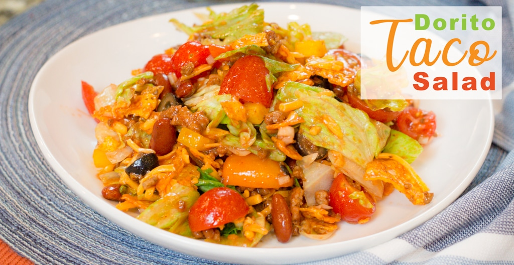 Dorito Taco Salad ~ Neighborhood Favorite Pot Luck Salad