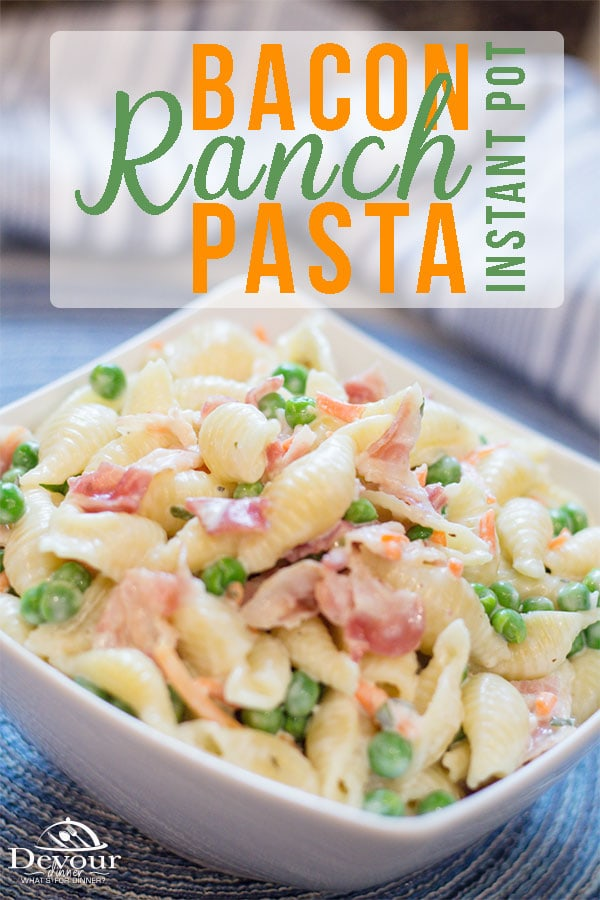 Bacon Ranch Pasta Instant Pot Recipe