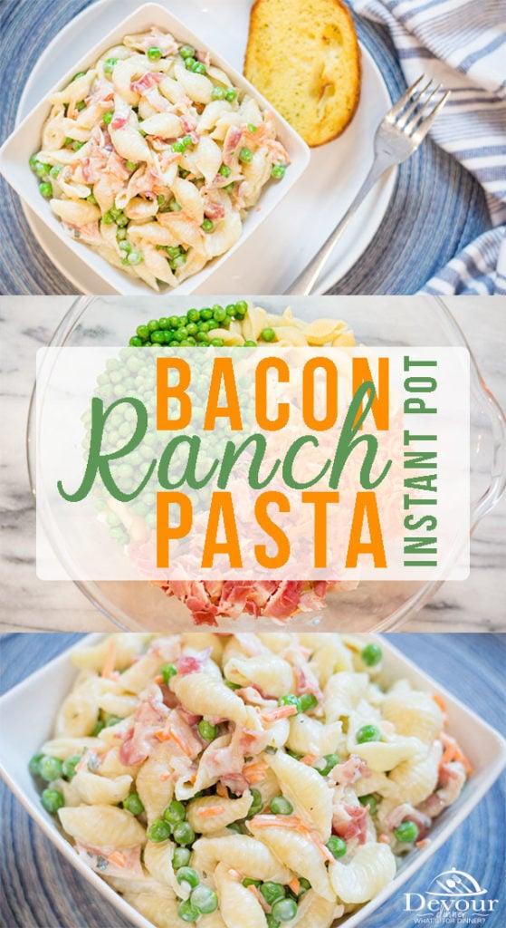 Bacon Ranch Pasta Salad Pin