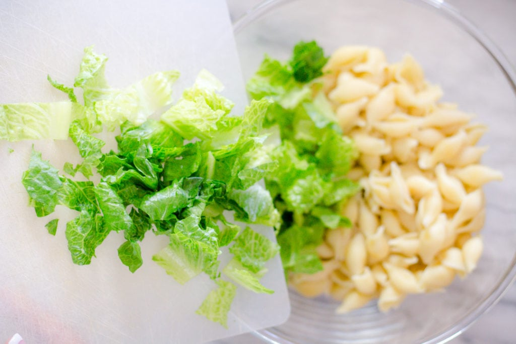 Romaine Lettuce and Pasta