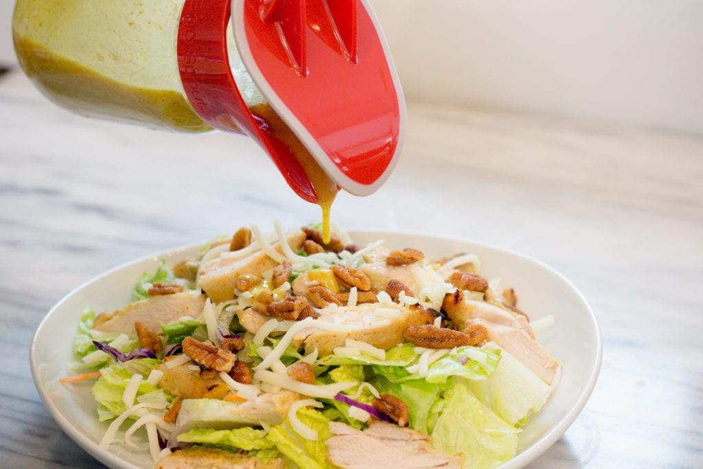 Honey Mustard Salad Dressing on Salad
