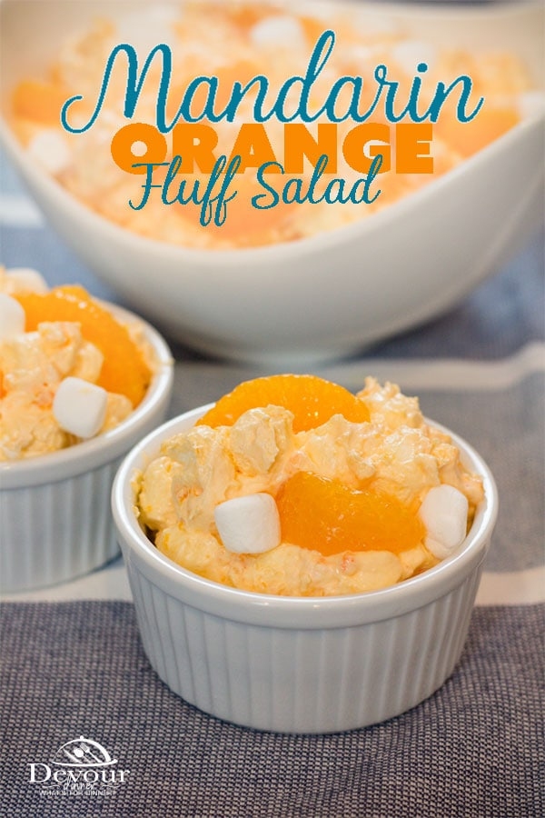 Orange Fluff, Pot Luck Salad made with 5 ingredients.