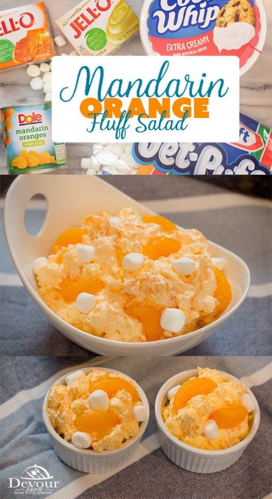 Orange Fluff Salad with Ingredients
