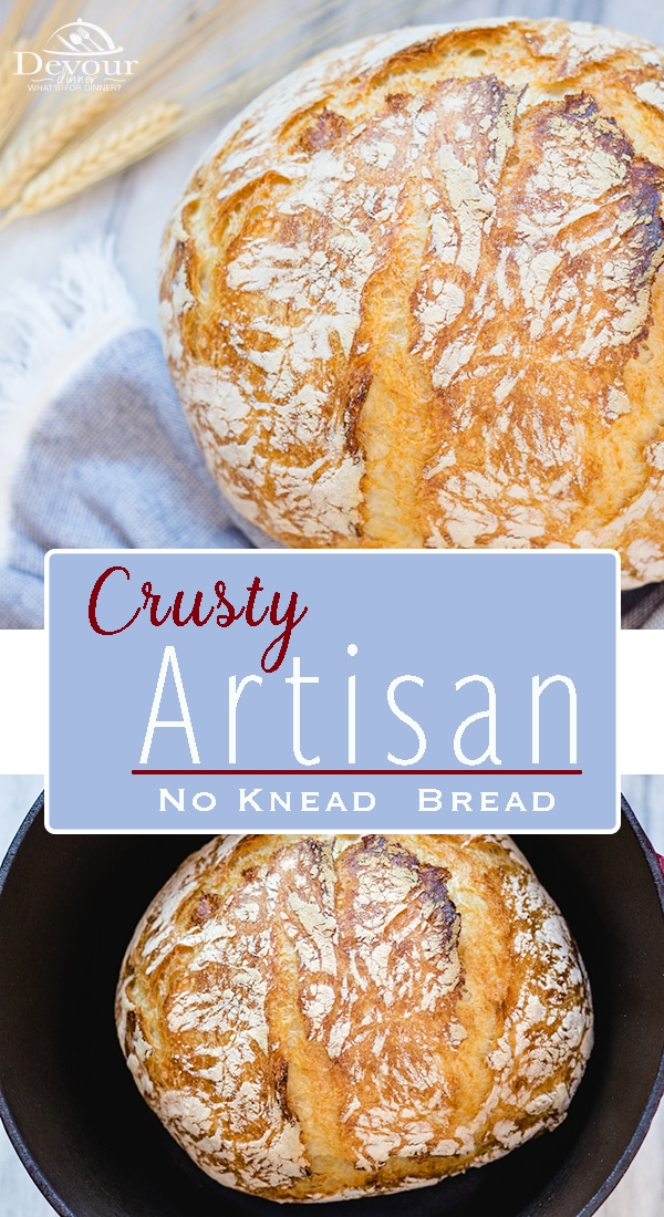 No Knead Artisan Bread is amazingly delicious. With only 4 ingredients it's easy to make and perfect for so many meals. Flaky Crust with soft bread inside is a must recipe that everyone needs. Easy to make and bakes in Dutch Oven either Cast Iron or Ceramic #artisanbread #4ingredientbread #nokneadbread #breadrecipe #easybreadrecipe #dutchoven #camping #campingbread #anolon #lodge #castiron #castironcooking #castironbread #easybreadrecipe #easyrecipe #yum #yummy #recipe #recipes #food #foodie .