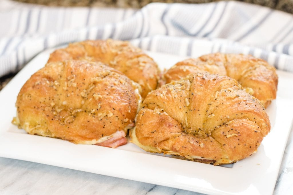 Ham and Cheese Sliders on Croissant