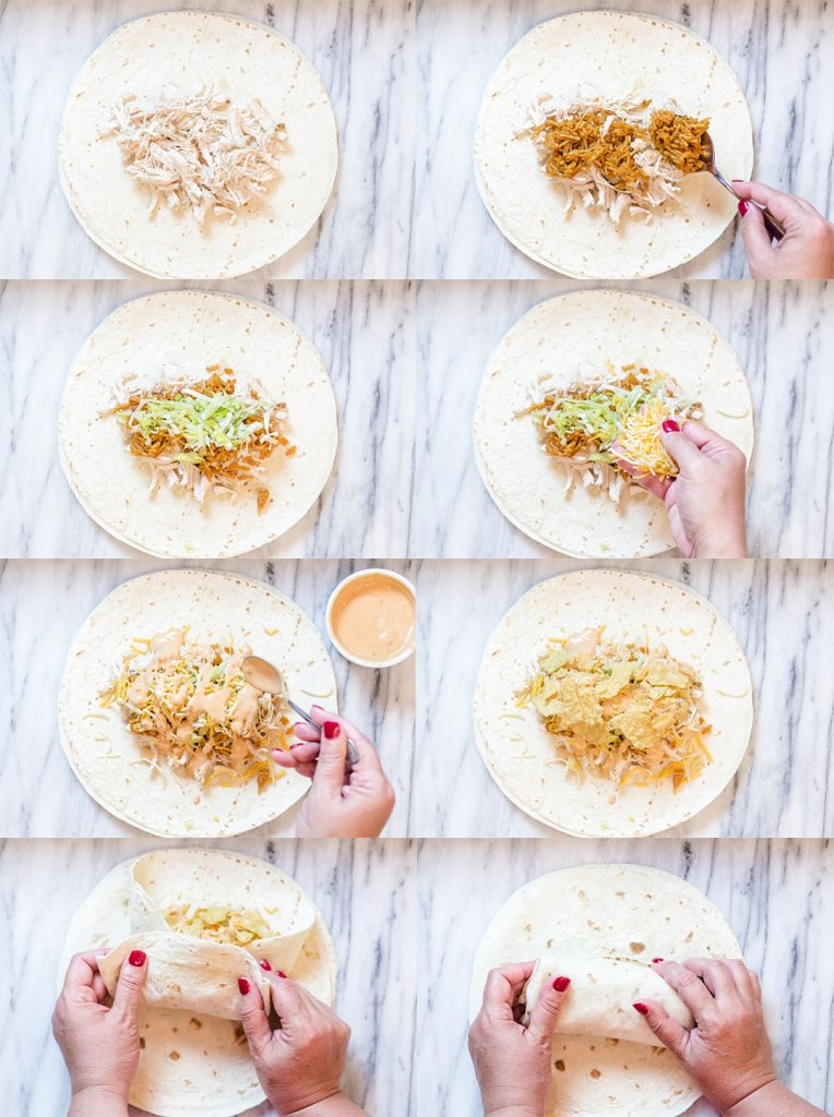 Shredded Chicken Tacos Step by Step
