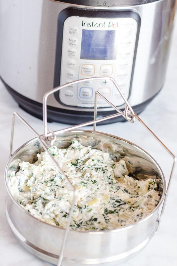 Instant pot Spinach Artichoke Dip Recipe