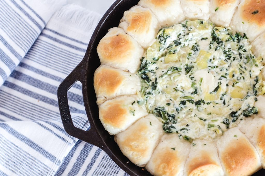 Oven Baked Spinach Artichoke Dip
