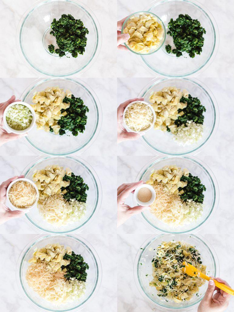 Spinach Artichoke Dip Ingredients step by step