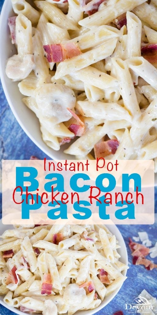Chicken Bacon Ranch Chicken Pasta Casserole