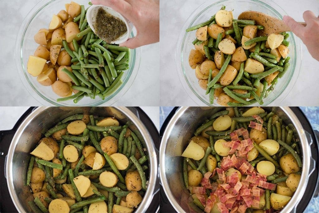 Herbed Green Beans and Potatoes Steps