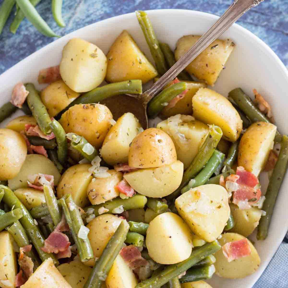 Bacon Herbed Green Beans and Potatoes