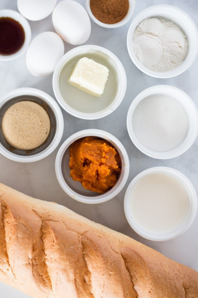 Pumpkin French Toast Ingredients