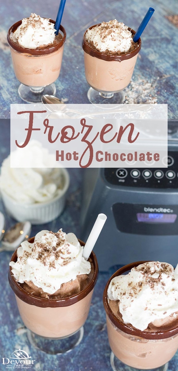 While you may not be local to the famous Serendipity dessert chain, you can still enjoy a delicious treat at home. One that would give a Serendipity frozen hot chocolate a run for its money. #dessert #easydessert #easydessertrecipe #frozenhotchocolate #howtomakefrozenhotchocolate #desserthotchocolate #food #foodie #recipe #recipes #kidapproved #devourdinner #recipeoftheday #famousfrozenhotchocolate #serindipityhotchocolate #serindipityfrozenhotchocolate #yum #dessert #hotchocolate #hotfuge