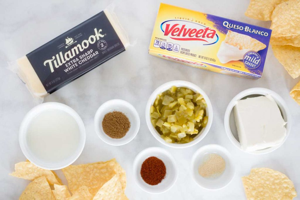 Ingredients for Cheese Dip