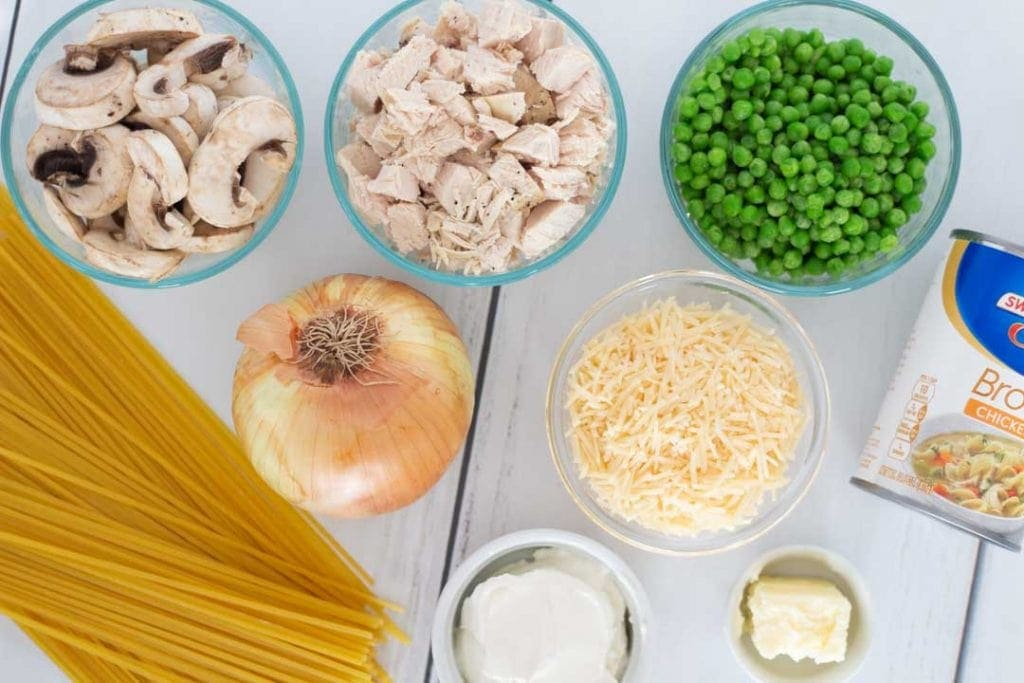 Chicken Tetrazzini Casserole Ingredients
