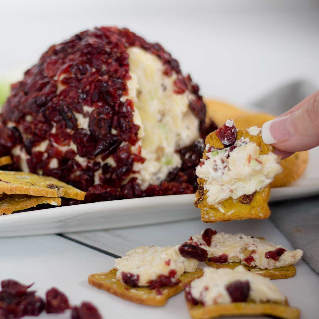 Holiday Appetizer White Cheddar Cheese Ball