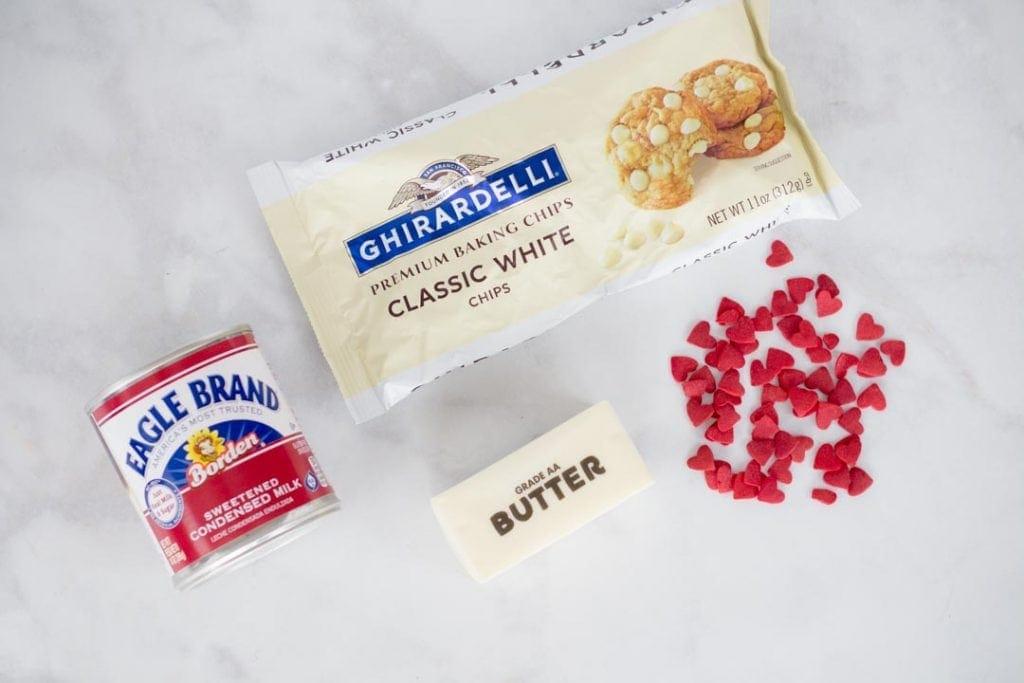 3 Ingredient Fudge Ingredients