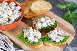 Turkey Salad on bread with lettuce