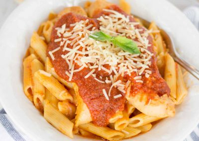 Let's make Chicken Parmesan Pasta