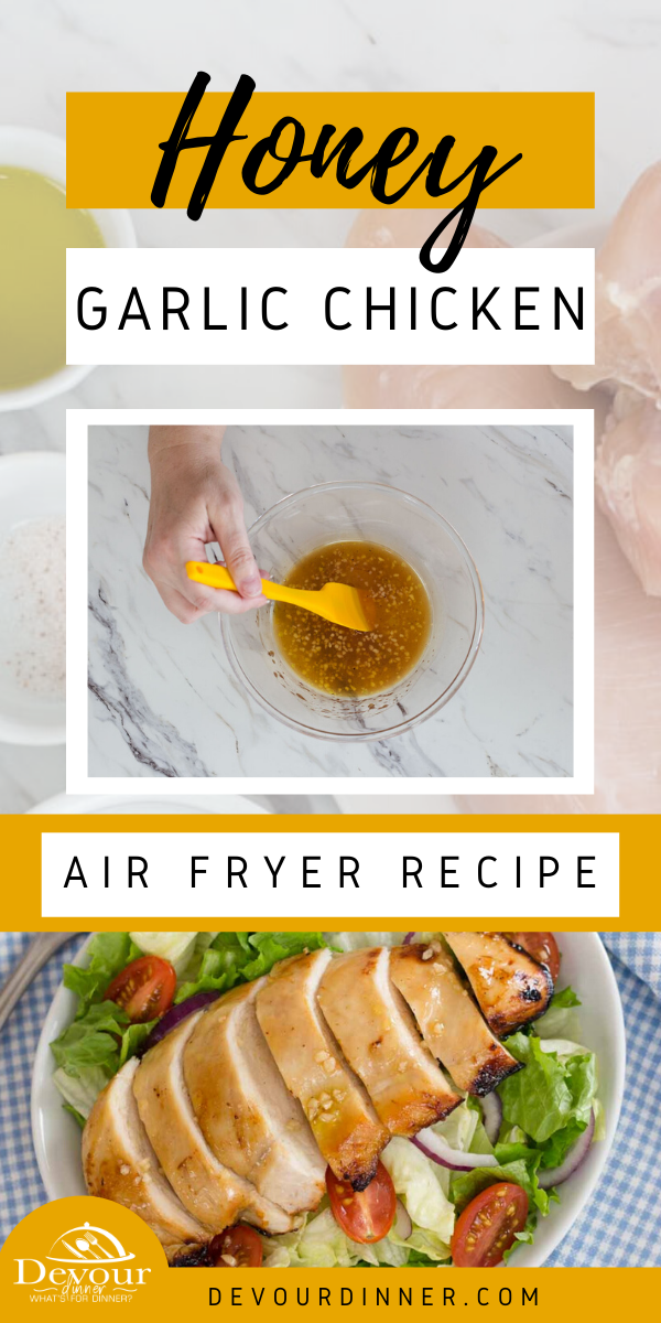 Honey glazed chicken is a delicious recipe you're going to love! Adding a nice sweetness and tangy taste to your chicken makes it perfect for an Asian inspired dish or just a simple dinner. #devourdinner #dinner #recipes #dinnerrecipes #airfryer #crisplid #mealthy #honeyglazedchicken #chickenrecipe #easychickenrecipe #yum #recipeoftheday #buzzfeast #foodie #friday
