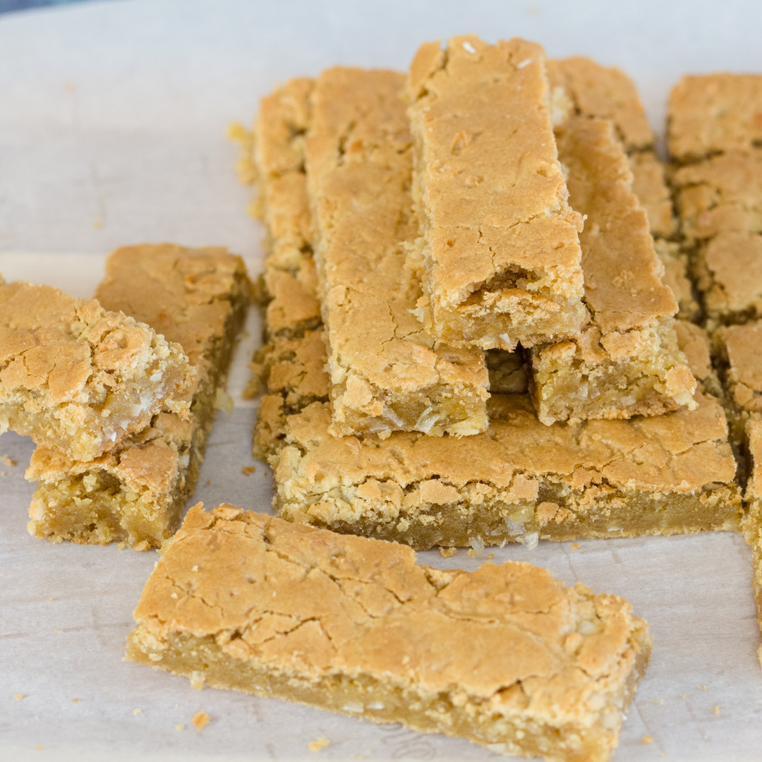 Butterscotch Bars ~ Blonde Brownie Recipe