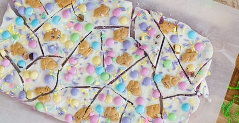 Bunny Cookie Bark ~ Almond Bark Recipes