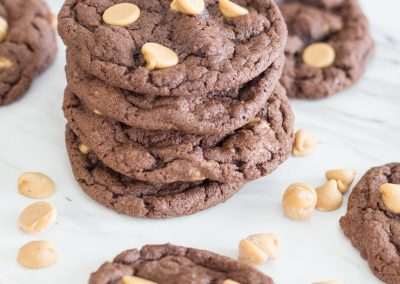 Chocolate Reese's Chip Cookies
