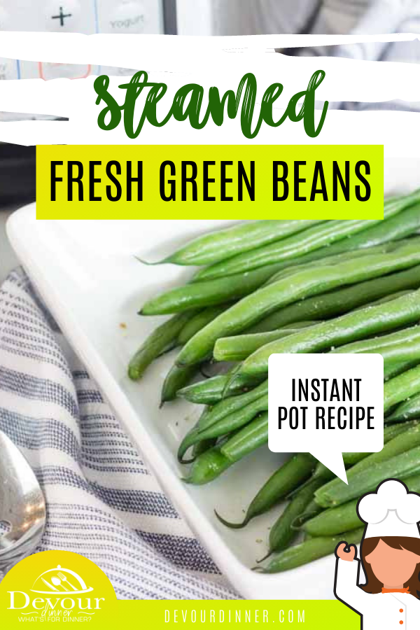 With your Instant Pot you can cook this green beans recipe and make a boring vegetable into something incredible. This super simple and easy Instant Pot green beans recipe is one that you're going to use again and again. It's so fast that it's perfect for busy nights too! #devourdinner #instantpot #instantpotrecipe #instantpotgreenbeans #sidedish #sidedishrecipe #greenbeans #steamedgreenbeans #food #foodie #yum #yummy #recipe #recipes #recipeoftheday #easyrecipe #easysidedish