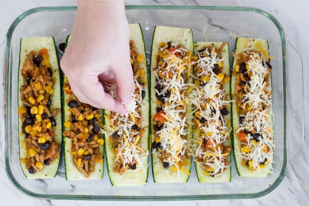 Ground Turkey Zucchini Boats