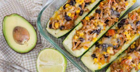 Easy Taco Stuffed Zucchini Boats