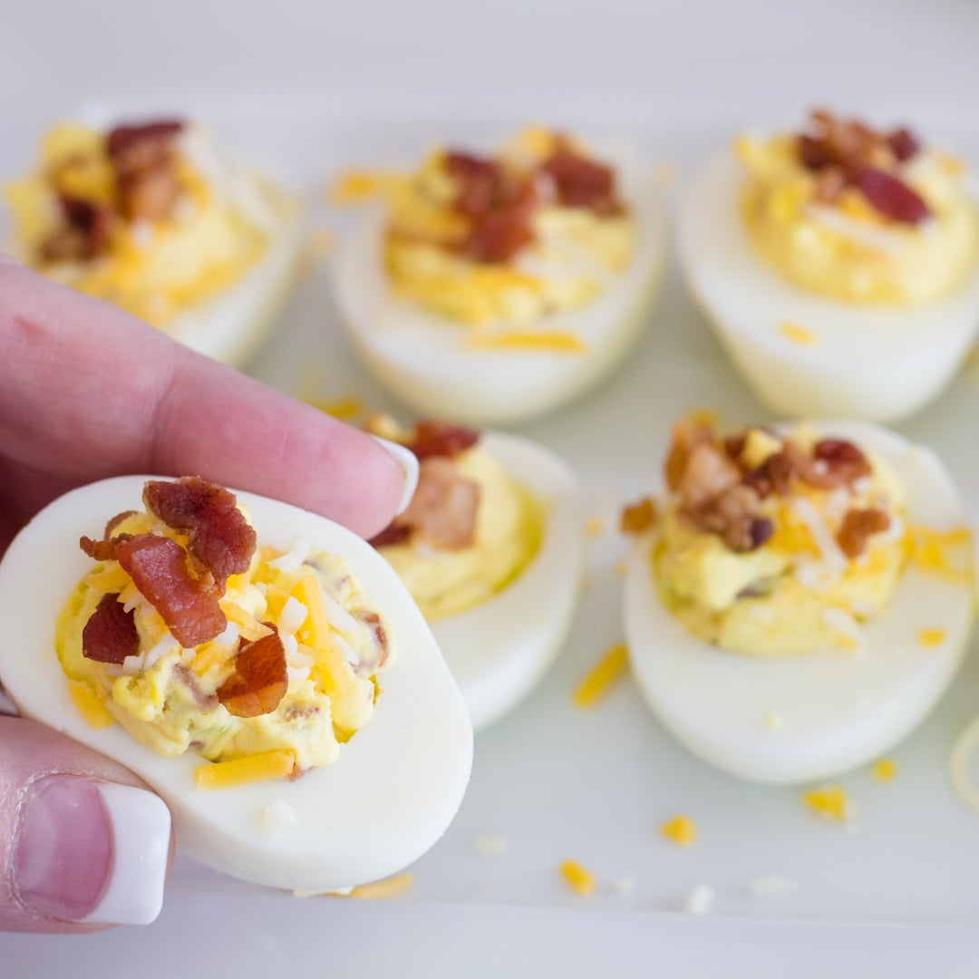 Famous Deviled Eggs with Bacon