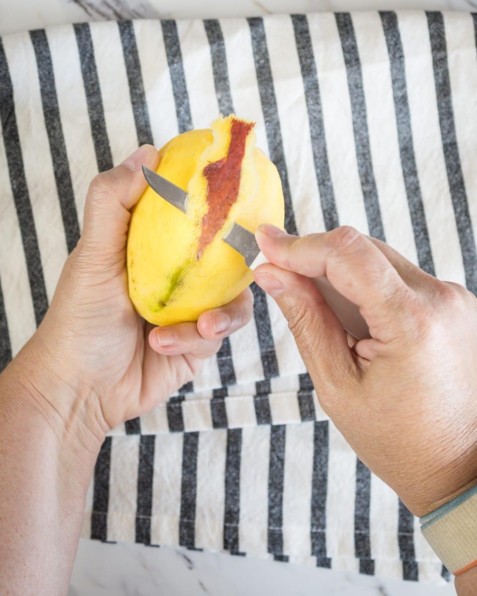 Peel Mango and Slice