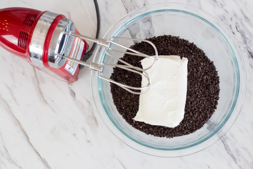 Hand Mixer with Oreos and Cream Cheese
