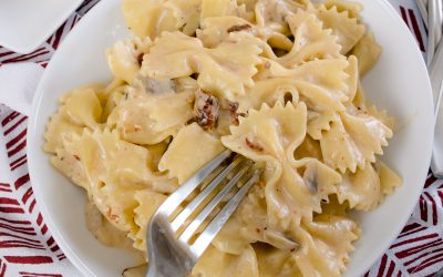Light and Creamy Bowtie Pasta a DCL Favorite