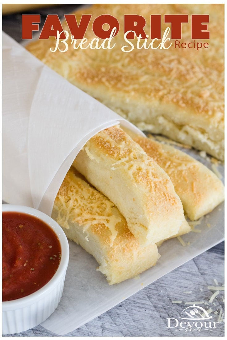 These Breadsticks have a super delicious crusty bottom that is to die for. Perfectly Proofed dough in the Instant Pot or Pressure Cooker making the bread sticks light and fluffy. Serve with a nice side of marinara dipping sauce you can have yourself an amazing weekend snack. #devourdinner #devourpower #breadstick #breadstickrecipe #bread #instantpot #instantpotrecipe #breadrecipe #easybreadrecipe #easyrecipe
