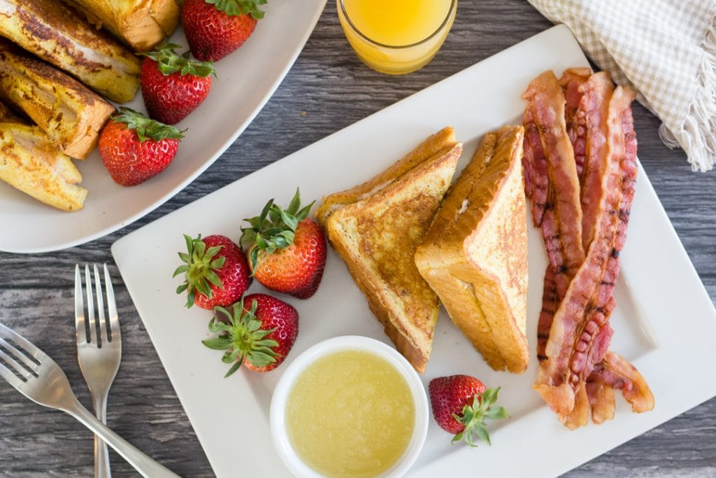 Buttermilk Syrup with French Toast and Bacon