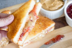 Peanut Butter and Jelly Sandwich Air Fried