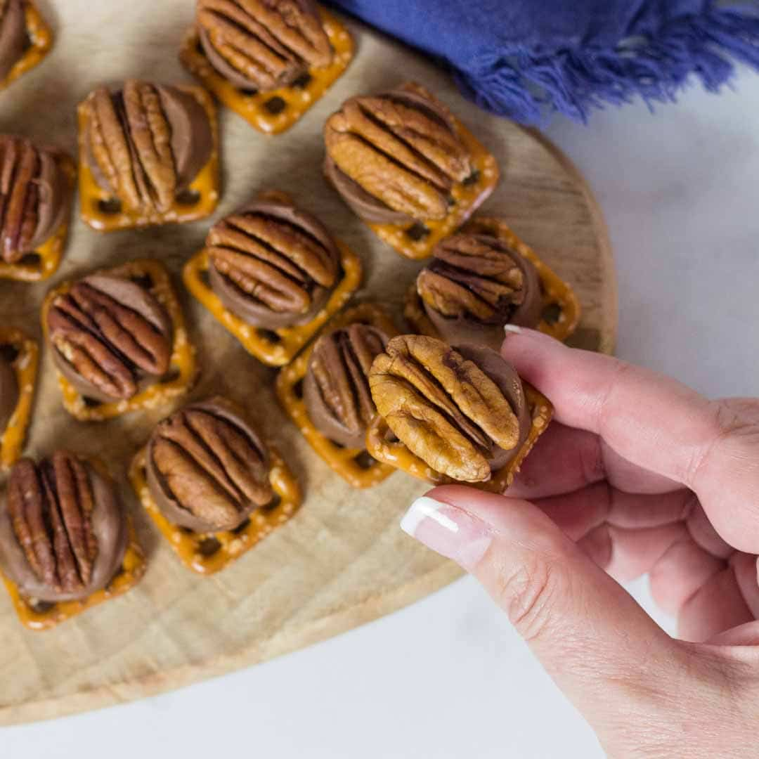 So Delicious, So Good ~ Rolo Pretzel Turtles