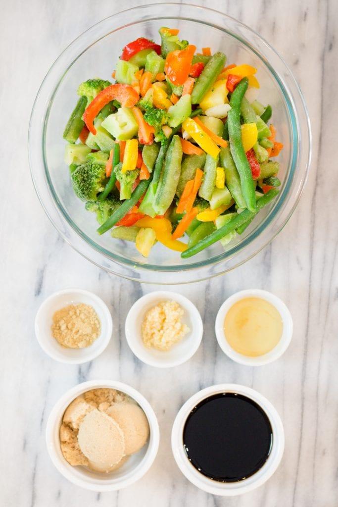 Teriyaki Vegetable Ingredients